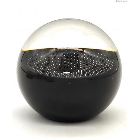 Czarna perła przycisk do papieru sygnowany