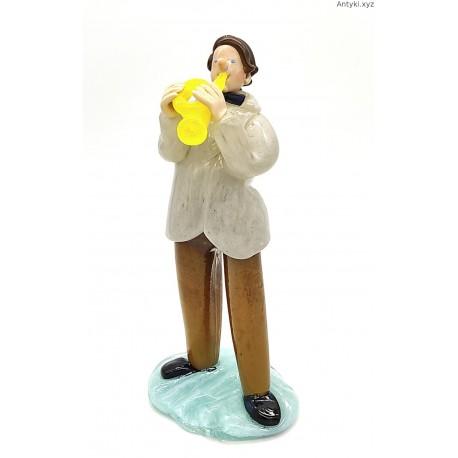 Trębacz szklana figurka Jaroslav Brychta