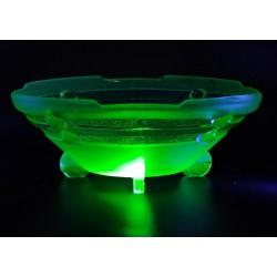 Uranowa patera w stylu art deco