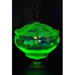Uranowa cukiernica pojemnik na miód