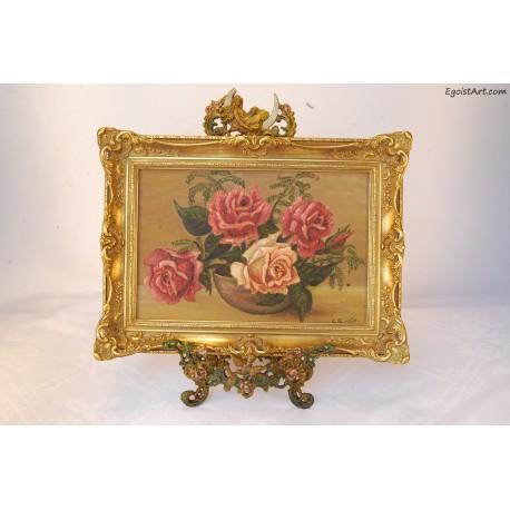 Róze z paprotkami