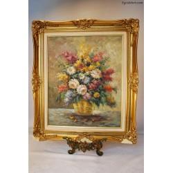 Różnokolorowy bukiet kwiatów