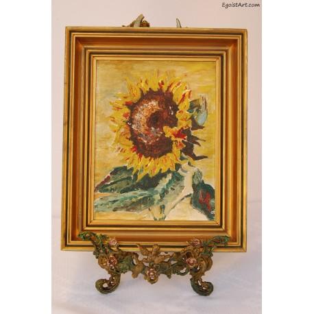 Słonecznik w złotej ramie