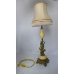 Mosiężna lampa figuralna