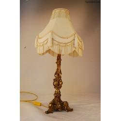 Lampka nocna z mosiężną podstawą