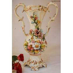 Duży wazon ręcznie malowany