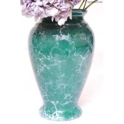Pękaty zielony wazon
