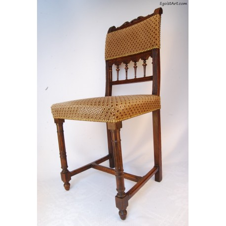 Krzesło tapicerowane bogato zdobione