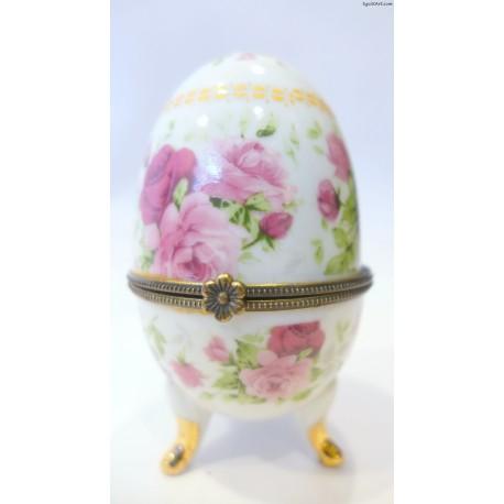 Porcelanowe jajko szkatułka