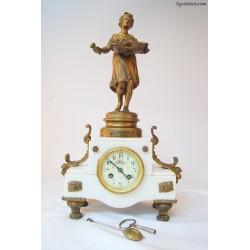 Francuski zegar kominkowy - Les Roses