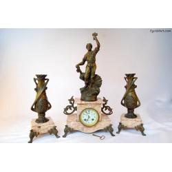 Francuski zegar kominkowy -PAX-