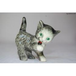 Figurka kotek z biedronką - Goebel