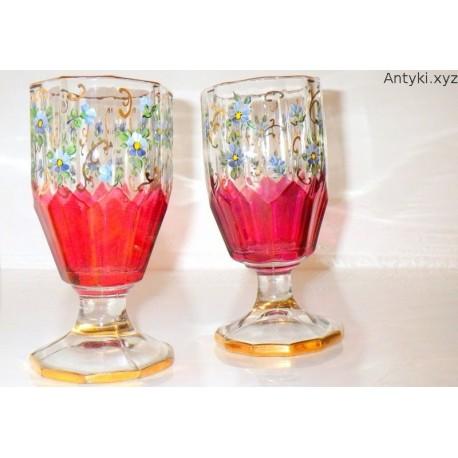 Para przepięknych kielichów, szklanic - secesja