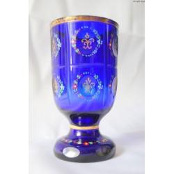 Kobaltowy kielich puchar - Bohemia