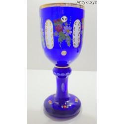 Wysoki kielich puchar - Bohemia szkło dwuwarstwowe