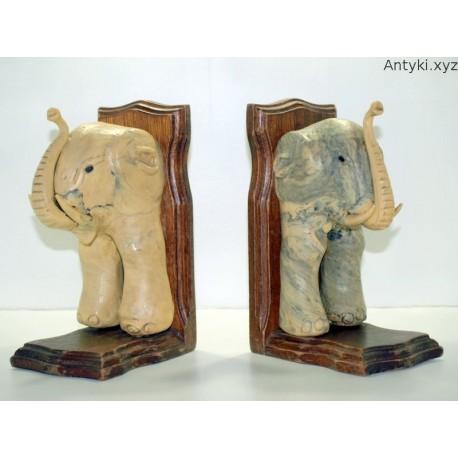 Słonie -podpórki do książek