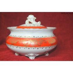 Wielka bomboniera - cukiernica - porcelana