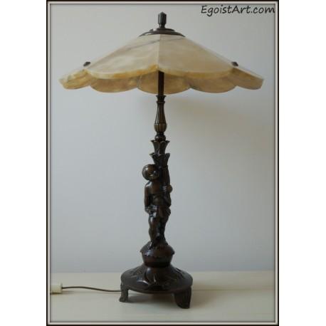 Unikalna lampa z brązu