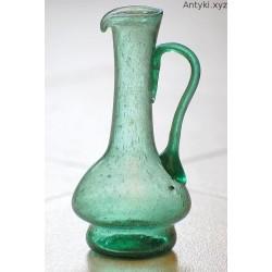 Stary wazonik, dzbanuszek - zielone szkło