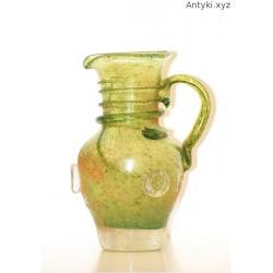 Dzbanek - wazonik - szkło artystyczne - sygnowane
