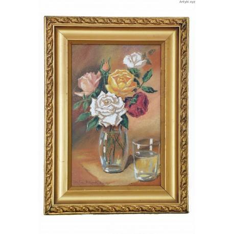 Róże w wazonie - Stefan Filipkiewicz