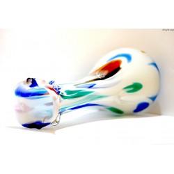 Wazon - białe szkło