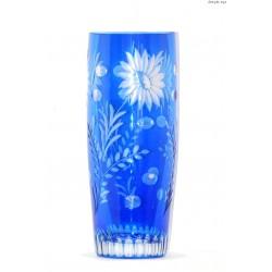 Kryształowy niebieski wazon