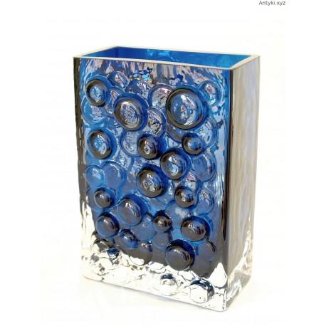 Wazon szklany WMF Erich Jachmann bubble glass turkusowy