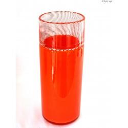 Duży pomarańczowy wazon sygnowany