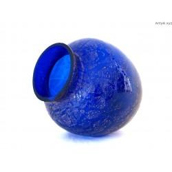 Wazon kobaltowy Murano Scavo