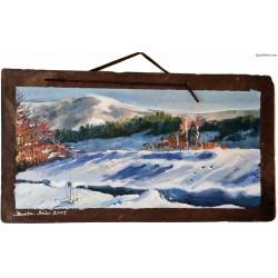 Śnieżka Karpacz obraz na łupku