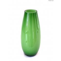 Wazon zielony szkło dwuwarstwowe duży