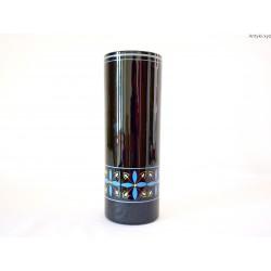 Wazonik czarny szkło hialitowe ręcznie malowany
