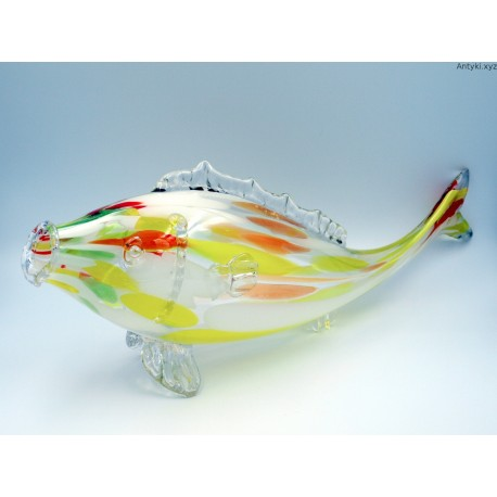 Ryba szklana wielka 52 cm.