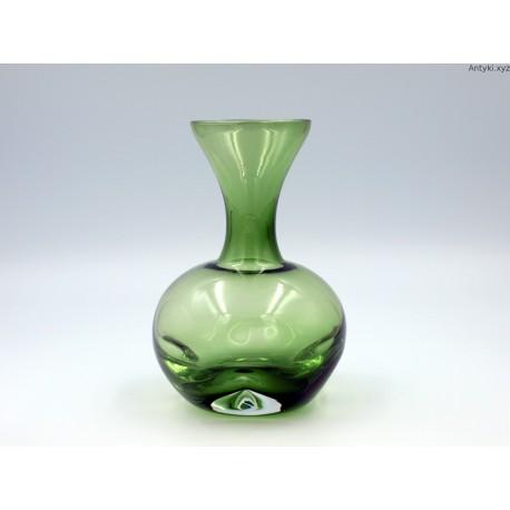 Zielony wazon Ingrid Glass grube szkło