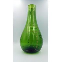 Wielki stary zielony wazon ręcznie malowany