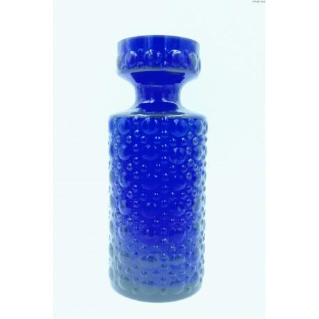 Kobaltowy stary wazon grube szkło