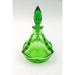 Zielona stara butelka flakon na perfumy