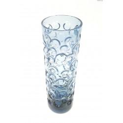Niebieski wazon bąble w kształcie walca