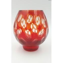 Wazon kryształowy owalny szkło dwuwarstwowe