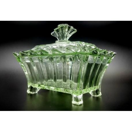 Glasfabrik AG in Brockwitz uranowe pudełko ozdobne