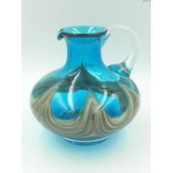 Turkusowy dzban wazon ręcznie formowany