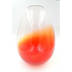 Duży wazon owalny odcienie czerwieni pomarańczy