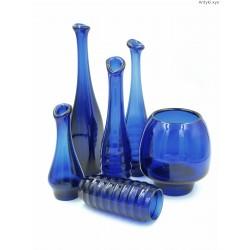 Fritz Keuchel - Schwepnitz komplet kobaltowych wazonów