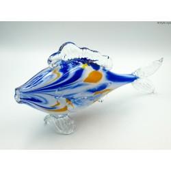 Kolorowa szklana duża ryba