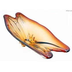 Wielka bursztynowo miodowa patera 57 cm
