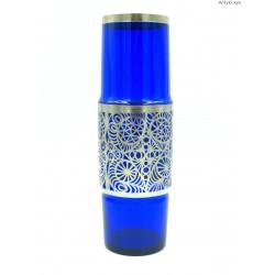 Hortensja kobaltowy szklany wazon