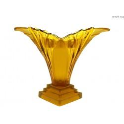 Walther & Sohne bursztynowy szklany wazon Art Deco