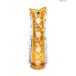 Huta Julia kryształowy stary dwukolorowy wazon