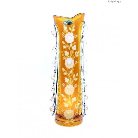 Julia kryształowy stary dwukolorowy wazon